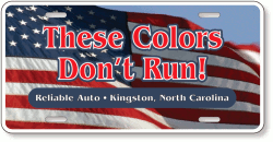 Full Color Car Tag