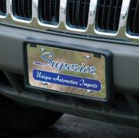 Chrome Car Tag