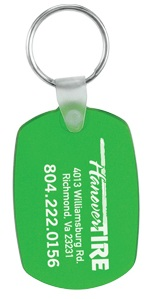 Customized Oval Soft Plastic Key Fobs