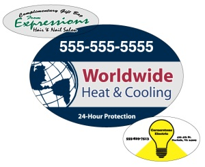 Oval Decal Stickers