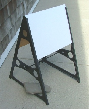 A-Frame with Sign