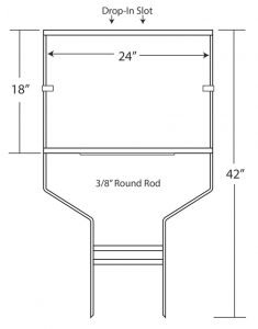 """18"""" x 24"""" Drop-In Round Rod Frames"""
