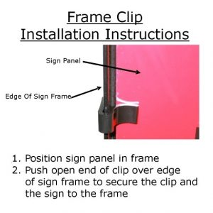 Instructions for Installing Frame Clips