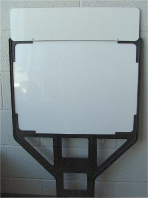 Real Estate Step Plastic Sign Frames with Rider Sign Attached