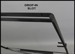 Closeup of Round Rod Drop-In Frame